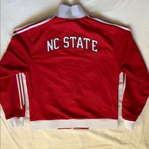 Adidas NC State North Carolina Red Track Jacket L